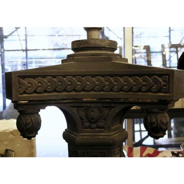 Cast Iron Exterior Claw Foot Lamp Posts - a Pair For Sale - Image 4 of 12