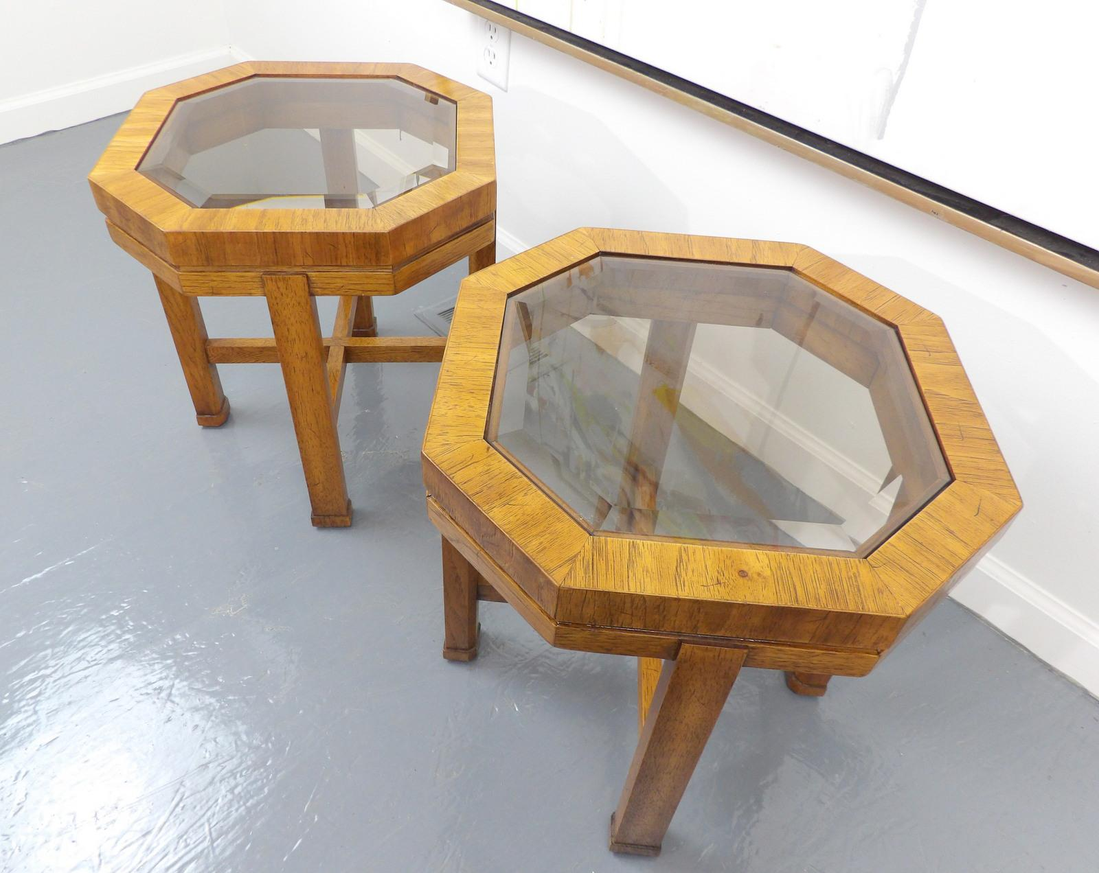 Forrest Bradshaw For Drexel Heritage Octagon Side Tables   A Pair   Image 4  Of 11