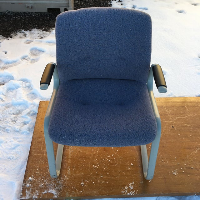 1980s Cantilever Armchair by Steelcase For Sale - Image 9 of 12