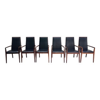 Mid Century Modern Milo Baughman for Dillingham Arm Chairs - Set of 6 For Sale