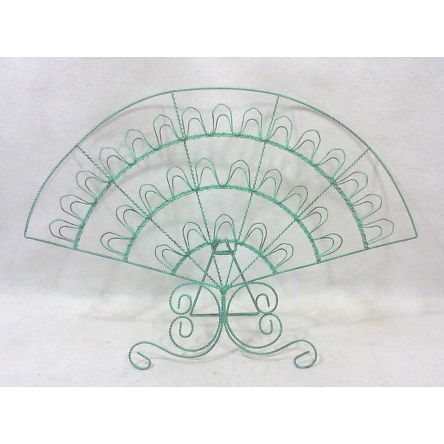 Verdigris Wire Fan Card Display - Image 2 of 5