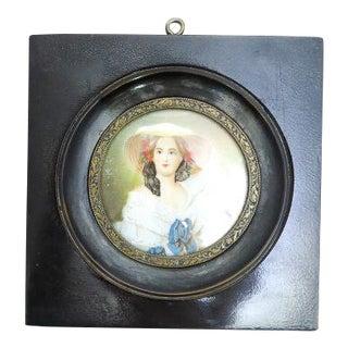 Signed Miniature Portrait Painting