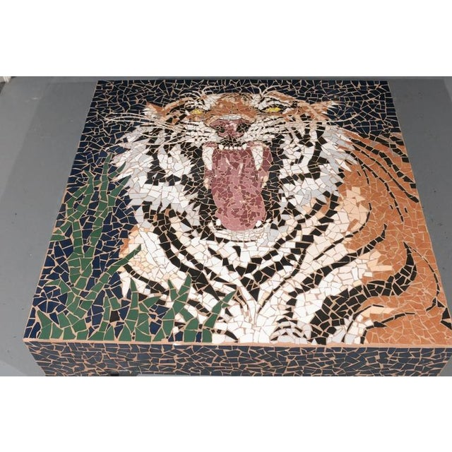 Mosaic Large Mosaic Tiger Coffee Table For Sale - Image 7 of 7