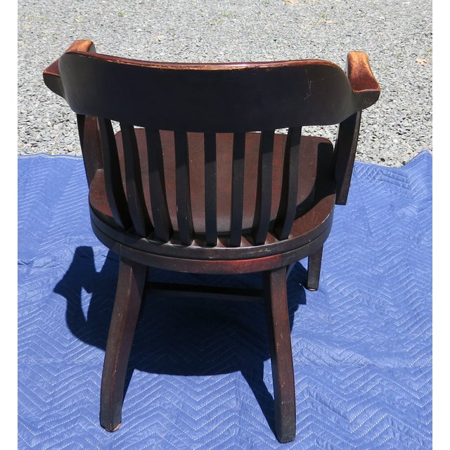 1920s Antique Bankers Chair For Sale In New York - Image 6 of 9