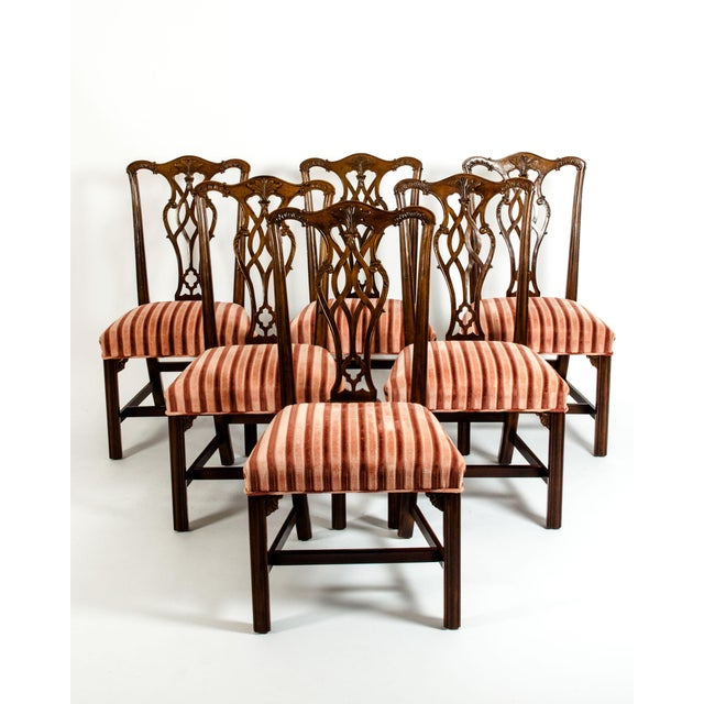 George III Style Mahogany Dining Chairs - Set of 8 For Sale - Image 13 of 13