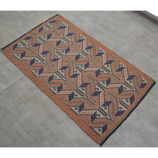 """Vintage Masterpiece Braided Rug. Hand Woven Small Area Rug - 3' 7"""" X 6' For Sale - Image 10 of 10"""