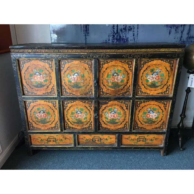 Tibetan Handpainted Cabinet - Image 2 of 11