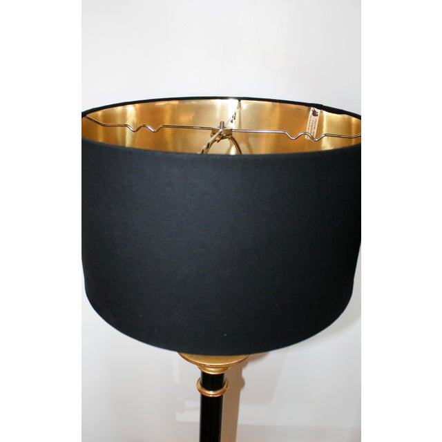 Vintage Curry Black & Gold Buffet Lamps - A Pair For Sale - Image 4 of 8