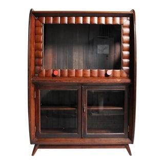 Mid-Century British Colonial Art Deco Cabinet