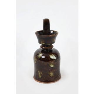 Vintage Dark Glazed Candle Holder Preview