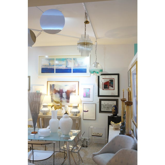 Vintage v. Nason & Co. Chandelier in Murano Glass and Brass For Sale - Image 11 of 13