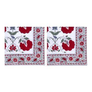 Janvi Napkins, Red - A Pair For Sale