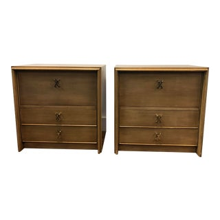 1950s Vintage Paul Frankl Nightstands - A Pair For Sale