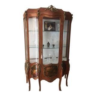 19th Century Louis XV François Linke Vitrine With Vernis Martin Panels For Sale