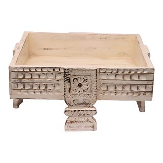 Antique Grinding Wooden Chakki Coffee Table For Sale