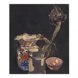 "Image of Charles Rennie Mackintosh Grey Iris 21.75"" X 18.75"" Poster Art Nouveau Flower, Vase, Bowl For Sale"