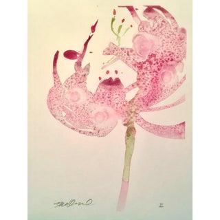 """Botanical Stargazing"" Original Watercolor For Sale"