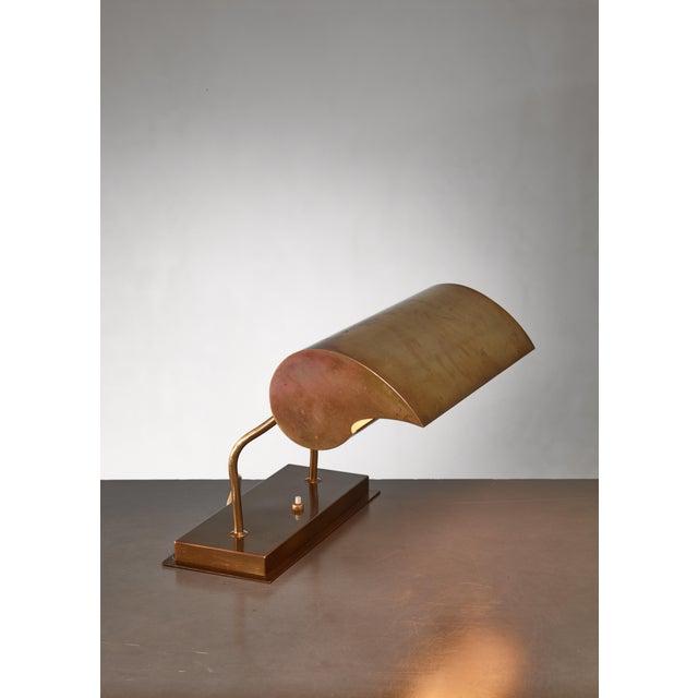 Mid-Century Modern Angelo Lelli Brassdesk Lamp for Arredoluce, Italy For Sale - Image 3 of 10