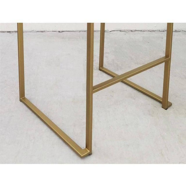 Gold Six Minimalist Modern Bar Stools by Enzo Berti For Sale - Image 8 of 9