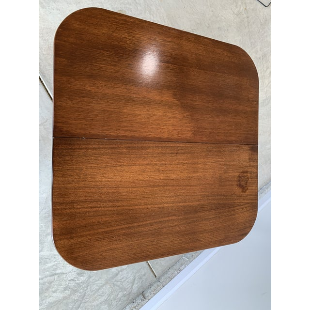 Wood Antique Mutual Furniture Co. Flip Top Mahogany Card Table For Sale - Image 7 of 12