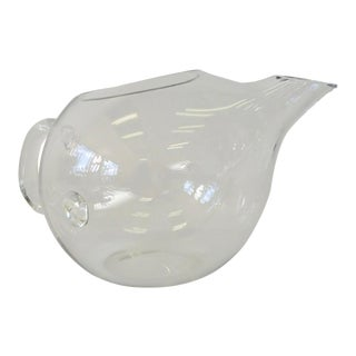 Clear Glass Modernist Margarita Martini Cocktail Pitcher For Sale