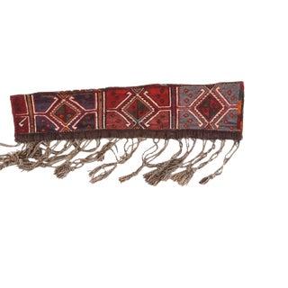 Semi Antique Afghan Long Saddle Bag Rug For Sale