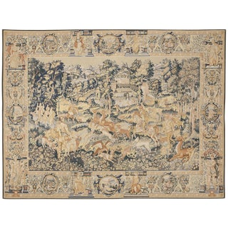 """Antique Chinese Aubusson Rug - 7'5"""" x 9'8"""" For Sale"""