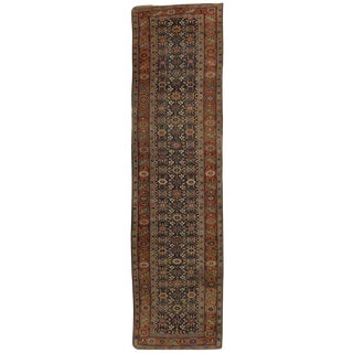 20th Century Persian Bijar Runner With Traditional Modern Style For Sale
