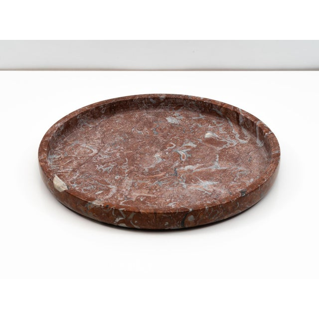 """Modern Red Limestone """"Ciotola"""" Centerpiece by E. Di Rosa & P.A. Giusti for Up & Up 1971 For Sale - Image 3 of 11"""