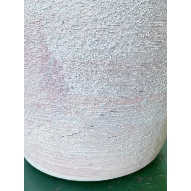 Ceramic Vintage Haeger Textured Pink Ceramic Vase For Sale - Image 7 of 10