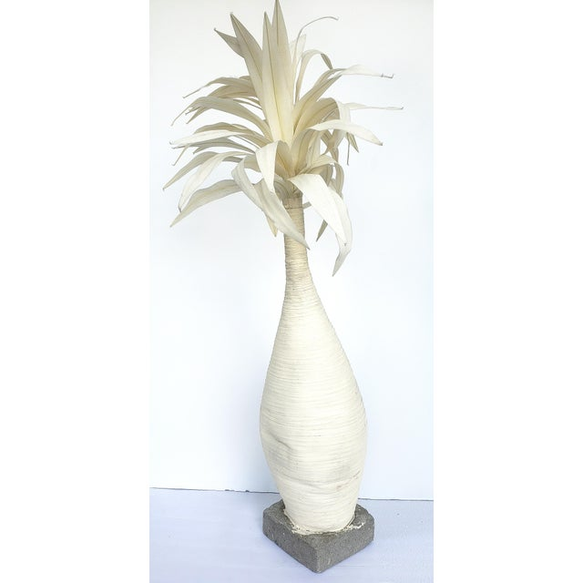 Offered for sale is a vintage handmade palm tree on a concrete base. The tree is created in 2 parts with the top being...