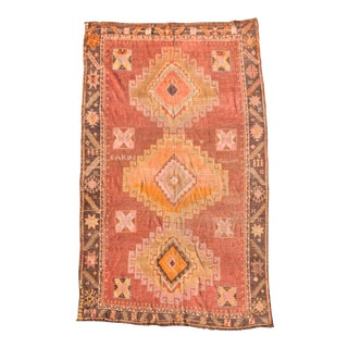 Vintage Turkish Oushak Rug-6′ × 10′4″ For Sale