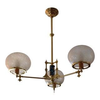 Circa 1880 Porcelain 3-Light Chandelier