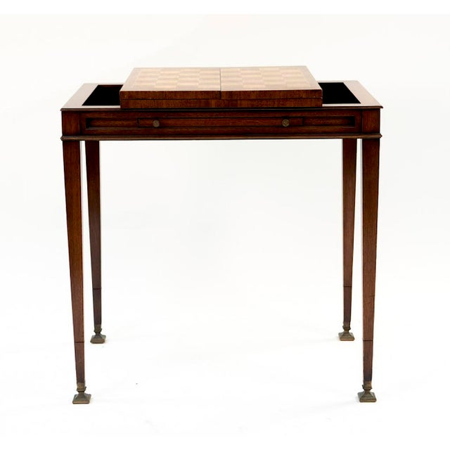 Brown Vintage Mahogany Game Table - 1950's Weiman For Sale - Image 8 of 13