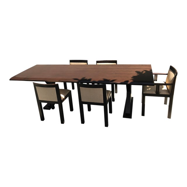 Christian Liaigre Table and 8 Matching Chairs | Chairish