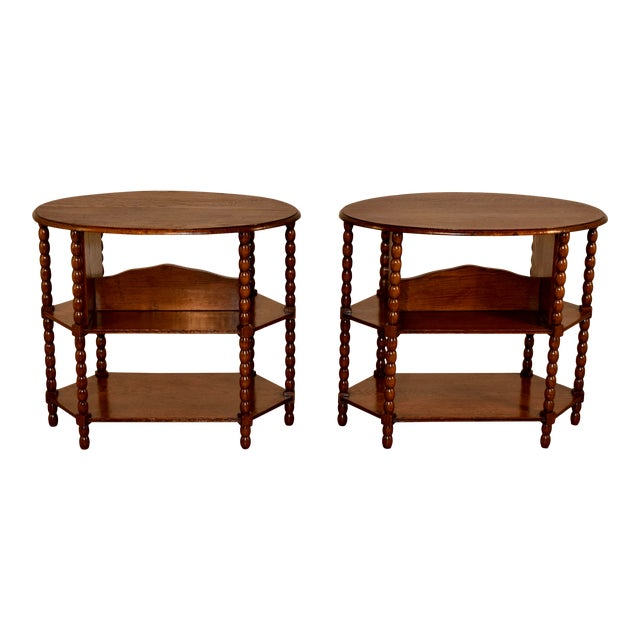 Late 19th C Pair of English Side Tables For Sale
