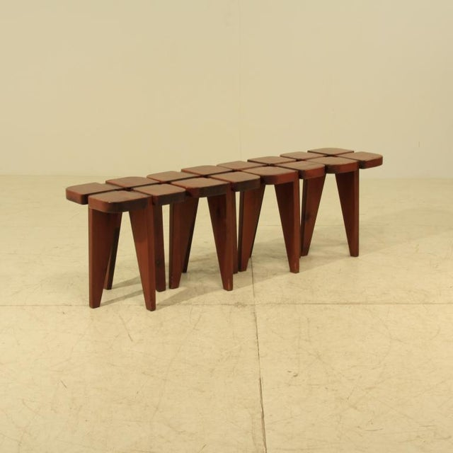 Lisa Johansson-Pape table and stools - Image 3 of 5