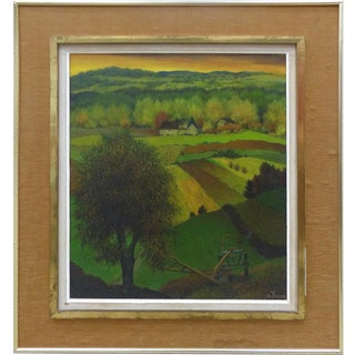 1950's Henri Therme French Landscape Oil Painting For Sale