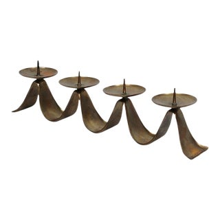 1960s Brass Candelabra by Hayno Focken For Sale