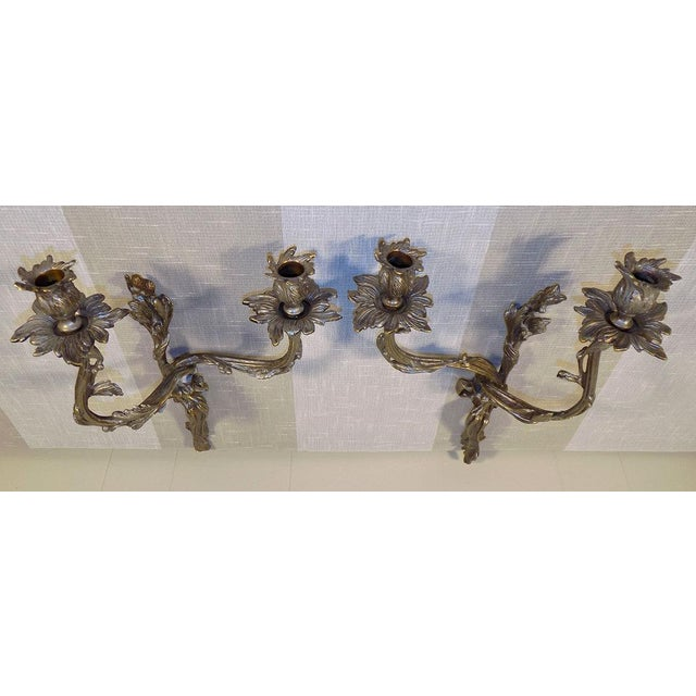 French Global Views Louis XV Style Wall Sconces - a Pair For Sale - Image 3 of 11