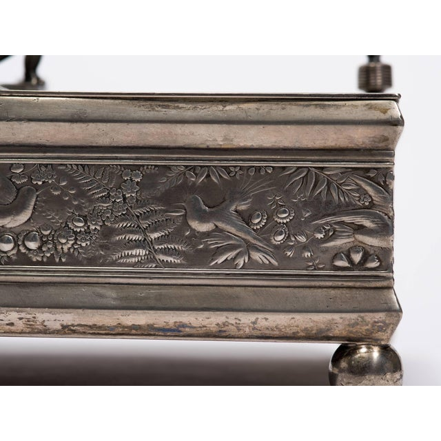 Traditional 19th Century Silver Plate Letter Box For Sale - Image 3 of 10