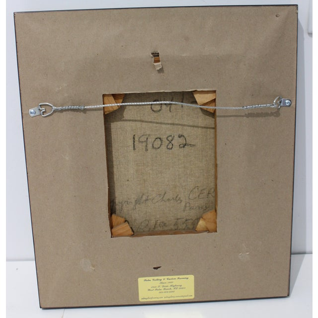 Mid-Century 1955 Charles Cerny Trompe l'Oeil Oil Painting For Sale - Image 9 of 13