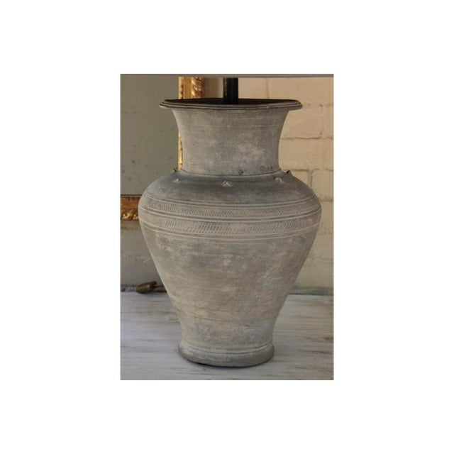 Large Unglazed Khmer Vase as Table Lamp For Sale In Wichita - Image 6 of 12