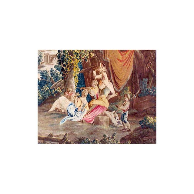 Traditional 18th Century Antique Tapestry From Royal Manufacture of Aubusson - L'Oiseleur For Sale - Image 3 of 6