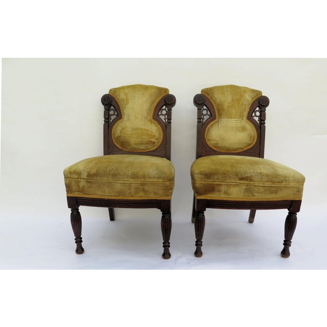 19th Century French Side Chairs - A Pair - Image 2 of 5