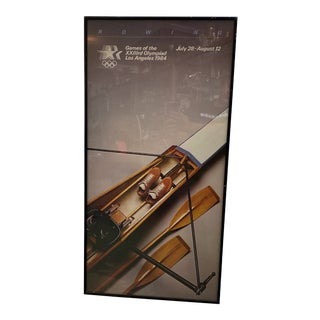 1984 Los Angeles Olympic Games Rowing Advertising Poster, Framed For Sale