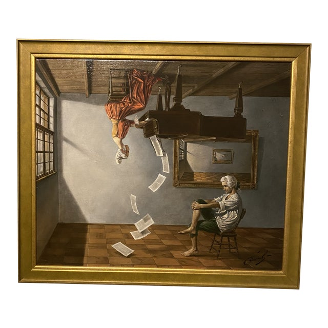 Discord of Analogy Signed by Michael Chavel Limited Edition Giclee on Canvas For Sale
