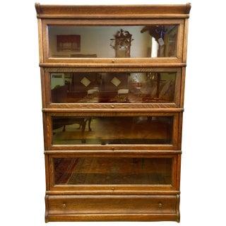 Globe Wernicke Company Ltd. Signed Oak and Glass Barrister Bookcase For Sale
