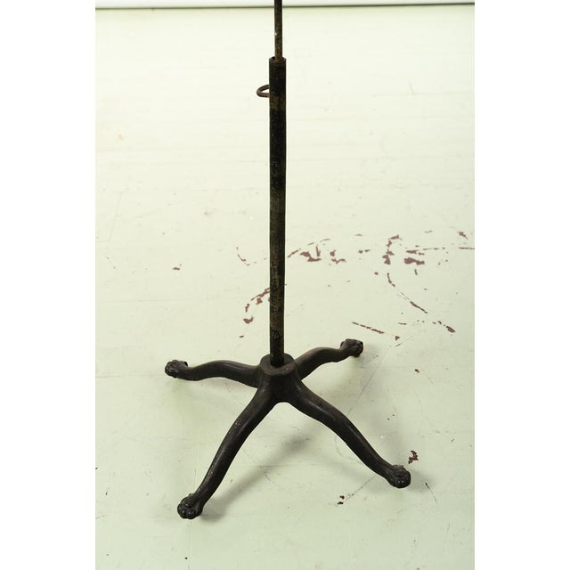 19th century Antique Mannequin Painted Torso Form w/Cast Iron stand For Sale - Image 5 of 9