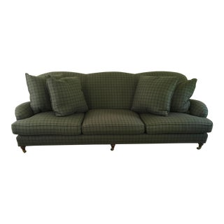 Ralph Lauren Somerville Dark Green Wool Sofa For Sale